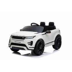 Elektrické autíčko Range Rover Evoque, Jednomístné, bílé, Kožená sedadla, MP3 Přehrávač s přípojkou USB / SD, Pohon 4x4, Baterie 12V10AH, EVA kola, Odpružené nápravy, Klíčová třípolohové startování, 2,4 GHz Bluetooth Dálkový Ovladač, Licence