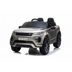 Elektrické autíčko Range Rover Evoque, Jednomístné, Šedé lakované, Kožená sedadla, MP3 Přehrávač s přípojkou USB / SD, Pohon 4x4, Baterie 12V10AH, EVA kola, Odpružené nápravy, Klíčová třípolohové startování, 2,4 GHz Bluetooth Dálkový Ovladač, Licence
