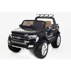 Elektrické autíčko Ford Ranger Wildtrak 4X4 LCD Luxury, LCD obrazovka, Pohon 4x4, 2 x 12V, EVA kola, Nelakované, čalouněné sedadlo, 2,4 GHz DO, klíč, 4 X MOTOR, Dvoumístné, Černé, Bluetooth, USB, SD karta, ORGINAL licence