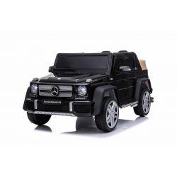 Elektrické autíčko Mercedes G650 MAYBACH, 12V, 2,4 GHz dálkové ovládání, USB / SD Vstup, odpružení, 12V baterie, měkké EVA kola, 2 X MOTOR, černé, ORIGINAL licence