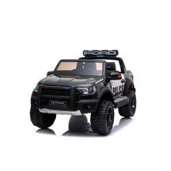 Elektrické autíčko Ford Raptor Policejní, EVA kola, Kvalitní odpružení, čalouněné sedadlo, 2,4 GHz DO, klíč, 2 X MOTOR, Dvoumístné, USB, SD karta, ORGINAL licence