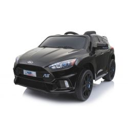 Elektrické autíčko Ford Focus RS, Černé, 12V, EVA kola, čalouněný sedák, 2,4 GHz DO, 2 X MOTOR, USB, Bluetooth, Radio