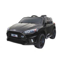 Elektrické autíčko Ford Focus RS, Černé Lakované, 12V, EVA kola, čalouněný sedák, 2,4 GHz DO, 2 X MOTOR, USB, Bluetooth, Radio