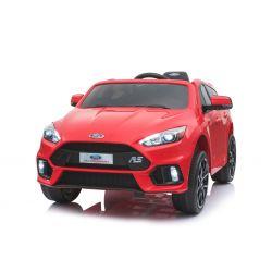 Elektrické autíčko Ford Focus RS, červené, 12V, EVA kola, čalouněný sedák, 2,4 GHz DO, 2 X MOTOR, USB, Bluetooth, Radio