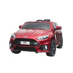 Elektrické autíčko Ford Focus RS, Červené Lakované, 12V, EVA kola, čalouněný sedák, 2,4 GHz DO, 2 X MOTOR, USB, Bluetooth, Radio