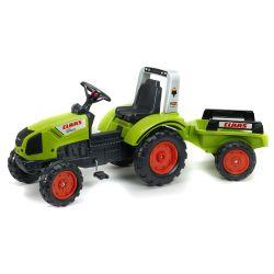 FALK Šlapací traktor 1040AB Claas Arion 430 s vlečkou