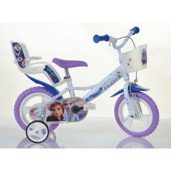 """DINO Bikes - Dětské kolo 12 """"124RLFZ3 se sedačkou pro panenku a košíkem - Frozen 2 2019"""