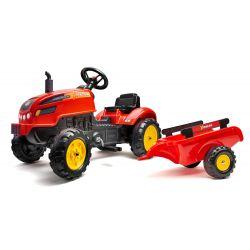 FALK Šlapací traktor 2046AB X-Tractor s vlečkou a otevírací kapotou