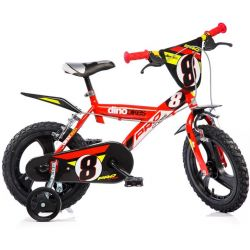 """DINO Bikes - Dětské kolo 14 """"143GLN - červený 2017"""