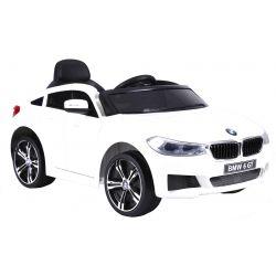 Elektrické autíčko BMW 6GT - jednomístné, Bílé, Baterie 2 x 6V / 4Ah, 2,4 GHz DO, 2XMOTOR, USB vstup, ORGINAL licence
