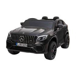 Elektrické autíčko Mercedes-AMG GLC, Dvoumístné, černé, Kožená sedadla, Rádio s USB vstupem, Pohon 4x4, 2x 12V7Ah Baterie, EVA kola, Odpružené nápravy, 2,4 GHz Dálkové Ovládání