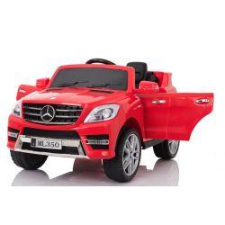 Elektrické autíčko Mercedes-Benz ML350, Plastový sedák, odpružené nápravy, USB / SD Vstup, Baterie 12V, 2 X MOTOR, Červené, ORGINAL licence