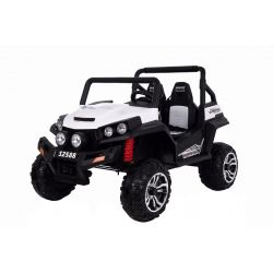 Elektrické autíčko RSX Bílé, Pohon 4x4, 2x12V, EVA kola, široké dvoumístné čalouněné sedadlo, 2,4 GHz DO, 4 X MOTOR, Dvoumístné, FM Radio, Bluetooth