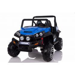 Elektrické autíčko RSX Modré, Pohon 4x4, 2x12V, EVA kola, široké dvoumístné čalouněné sedadlo, 2,4 GHz DO, 4 X MOTOR, Dvoumístné, FM Radio, Bluetooth